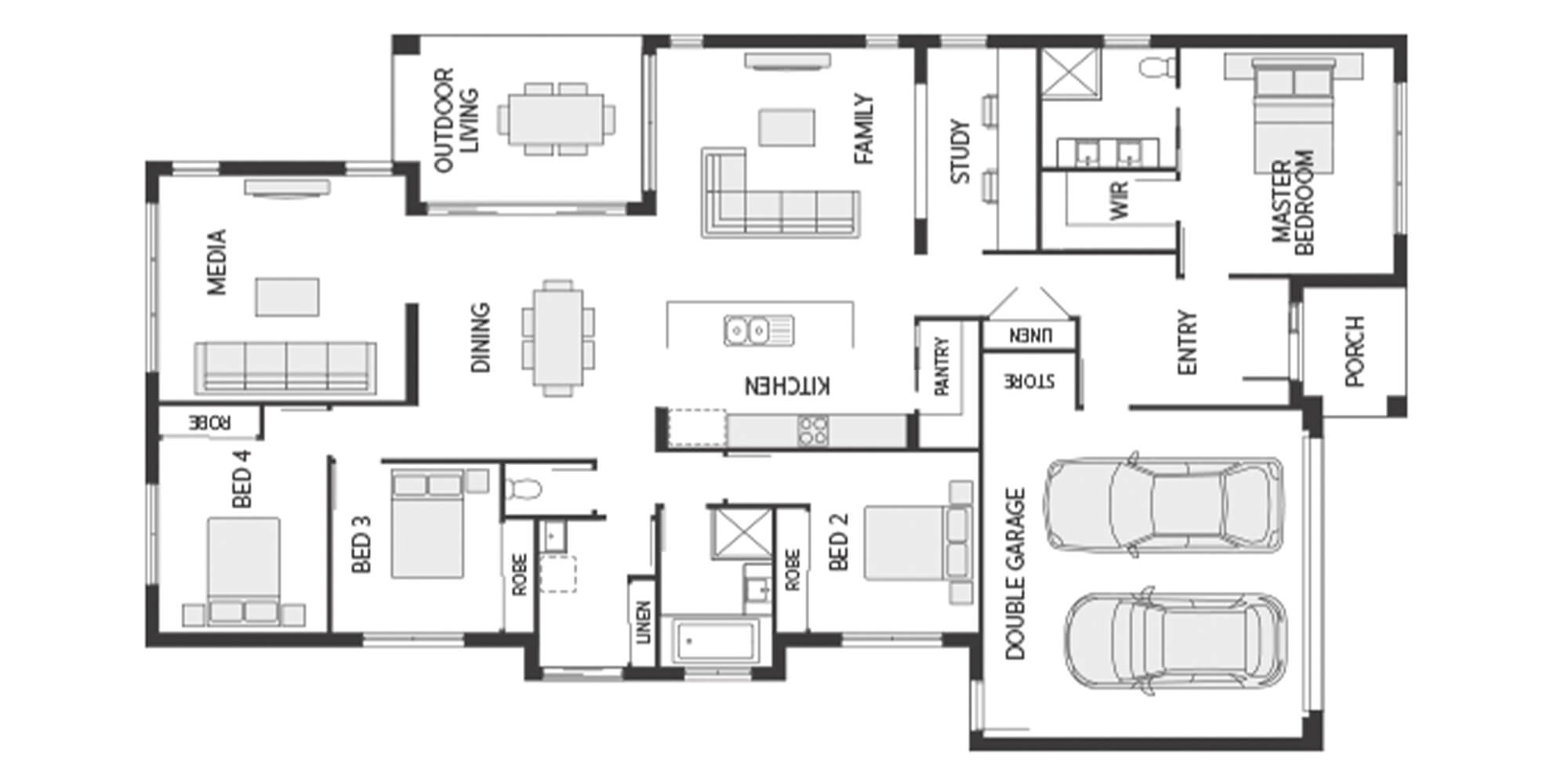 Coral Homes Santorini floorplan