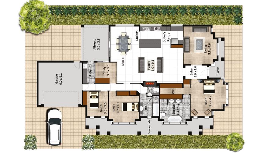 Kensington floorplan