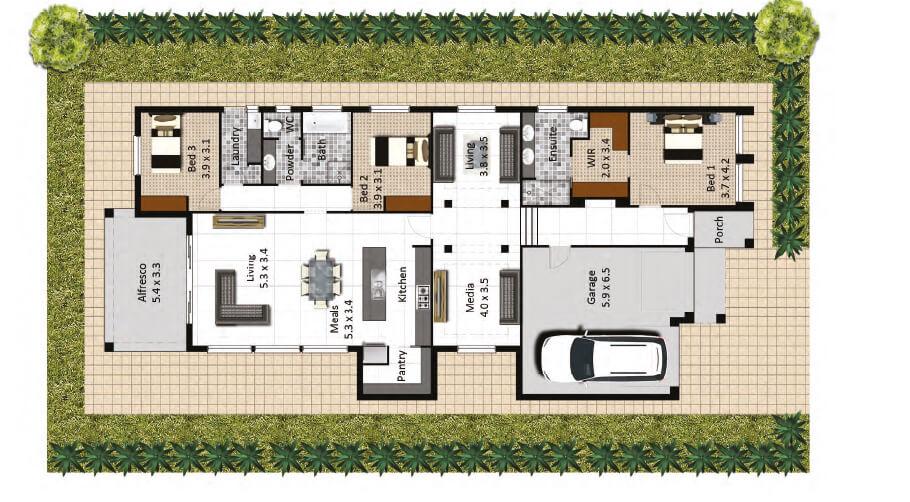 Tusmore floorplan