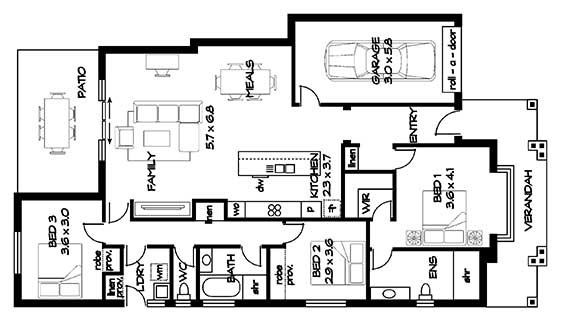 Bellini Hampton floorplan lot 448