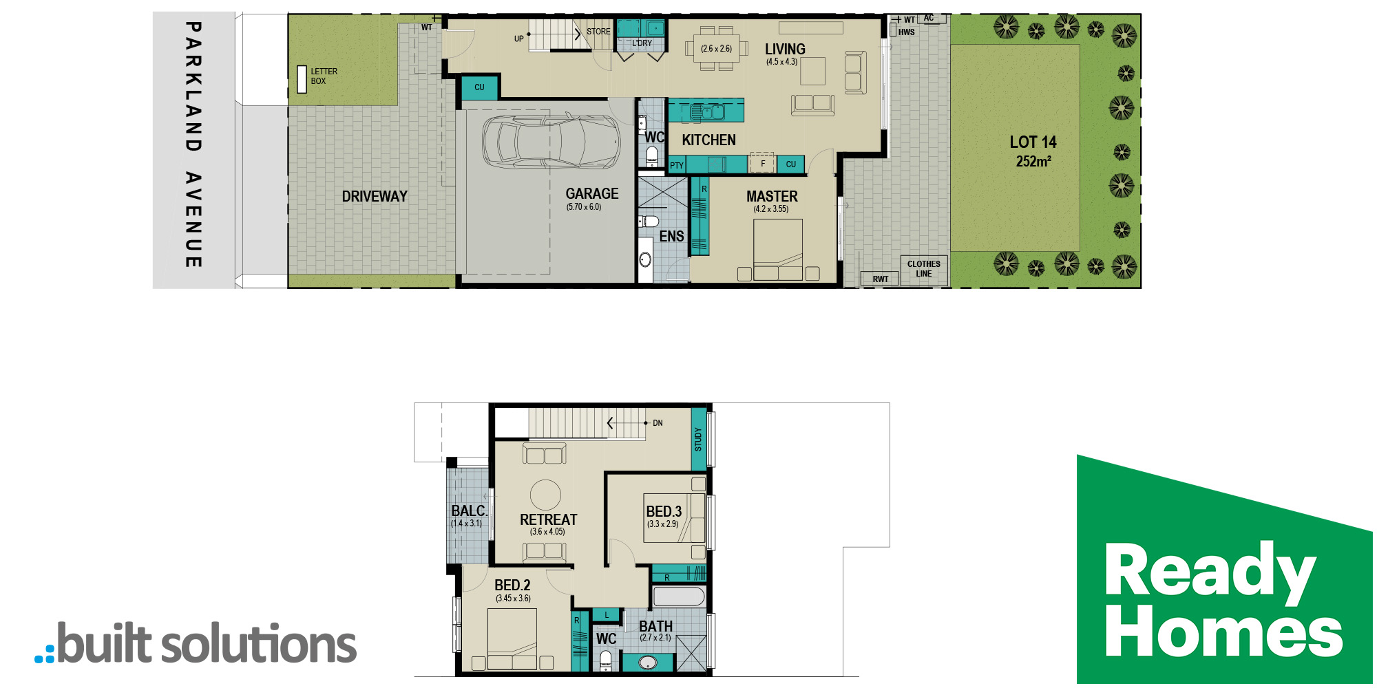 Lot 14 Parkland Avenue floorplan