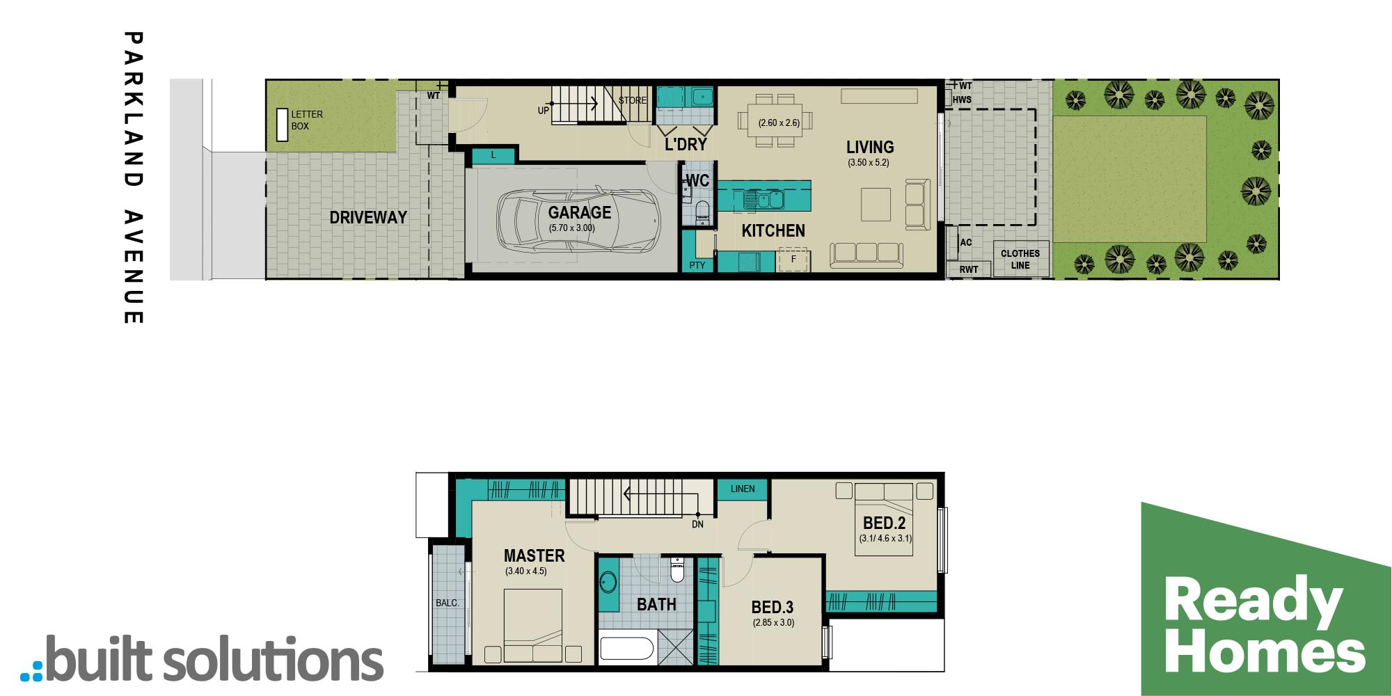 Lot 302 Parkland Avenue floorplan