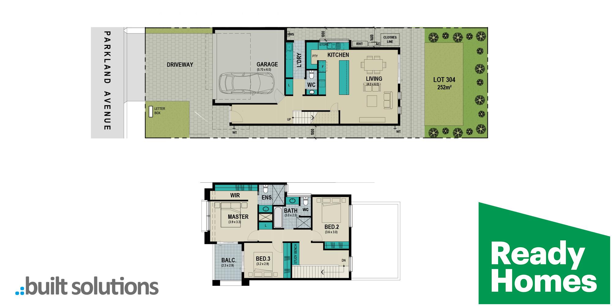 Lot 304 Parkland Avenue floorplan